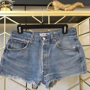 RE/DONE cutoff denim shorts